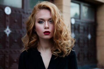 girl, red hair, makeup