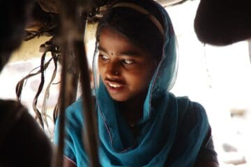 indian, girl, slum