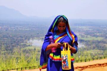 indian saree, nature, at the court of