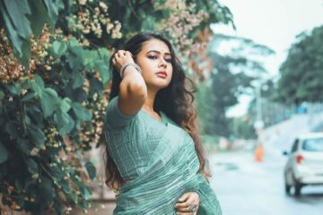 woman, sari, fashion
