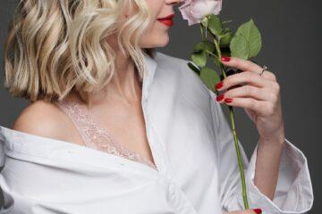 woman, beauty, rose