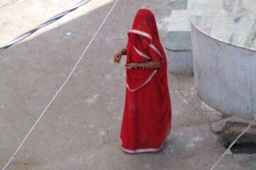 indian, woman, sari