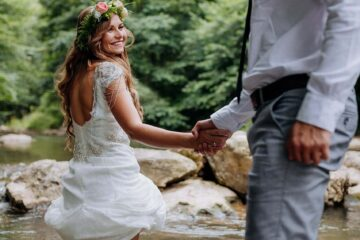 wedding, couple, newlyweds
